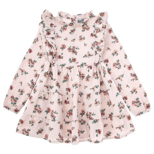 Vestido flores rosa 01