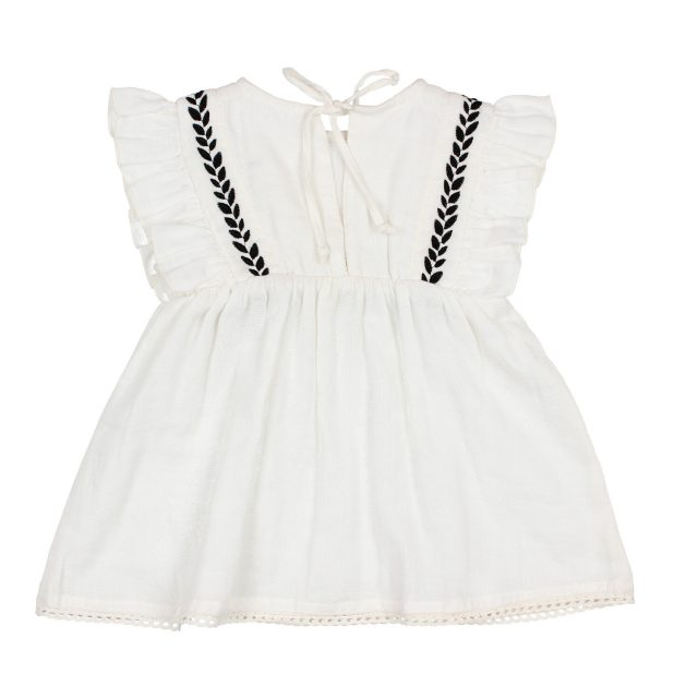 BABY GRAZIELLA DRESS WHITE BACK BUHO