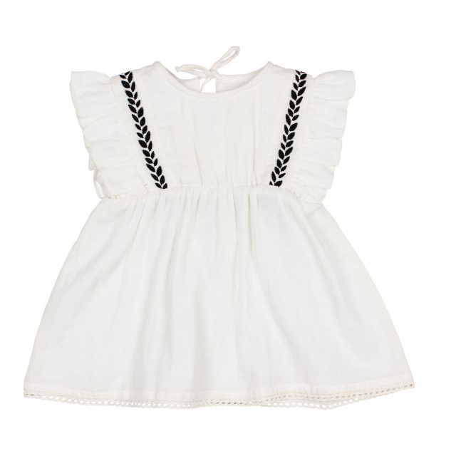 BABY GRAZIELLA DRESS WHITE BUHO